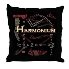 Harmonium Dark Throw Pillow