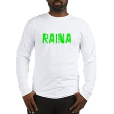 Raina Faded (Green) Long Sleeve T-Shirt