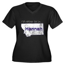 I'd Rather Be In Hannah Women's Plus Size V-Neck D