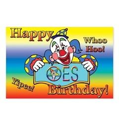 OES Birthday Postcards (Package of 8)