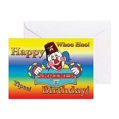 Shriners Birthday Clown Greeting Cards (Pk of 20)