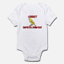 Canary trapped in a human body Infant Bodysuit