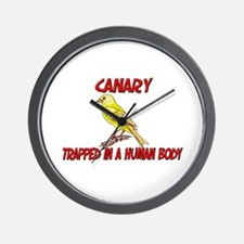Canary trapped in a human body Wall Clock