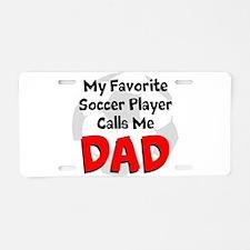 Favorite Soccer Player Aluminum License Plate