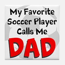 Favorite Soccer Player Tile Coaster
