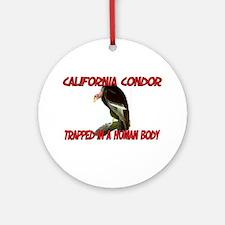 California Condor trapped in a human body Ornament