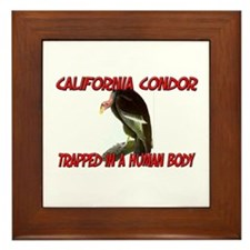 California Condor trapped in a human body Framed T