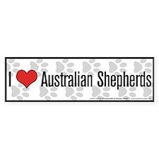 I (heart) Australian Shepherds Bumper Bumper Sticker