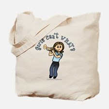 Light Trumpet Player Tote Bag