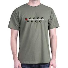 I heart Amstaffs Army Green T-Shirt