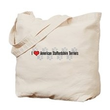 I heart American Staffordshire Terriers Tote Bag