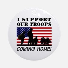 Troops Coming Home Ornament (Round)