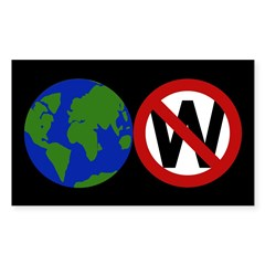 Earth Not W Rectangle Decal