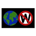 Earth Not W Rectangle Sticker