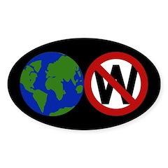 Earth Anti-Bush bumper sticker