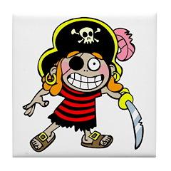 Pirate Kid Tile Coaster