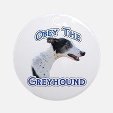 GreyhoundObey Ornament (Round)