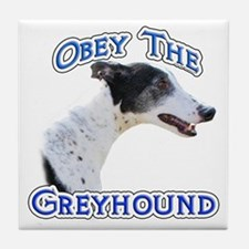 GreyhoundObey Tile Coaster