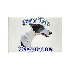 GreyhoundObey Rectangle Magnet