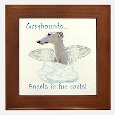 Greyhound Angel Framed Tile