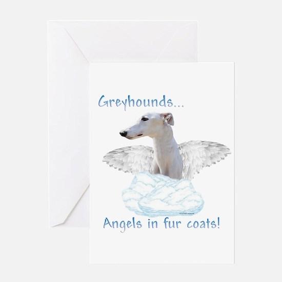 Greyhound Angel Greeting Card