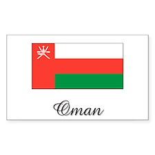 Oman Flag Rectangle Decal
