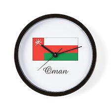 Oman Flag Wall Clock