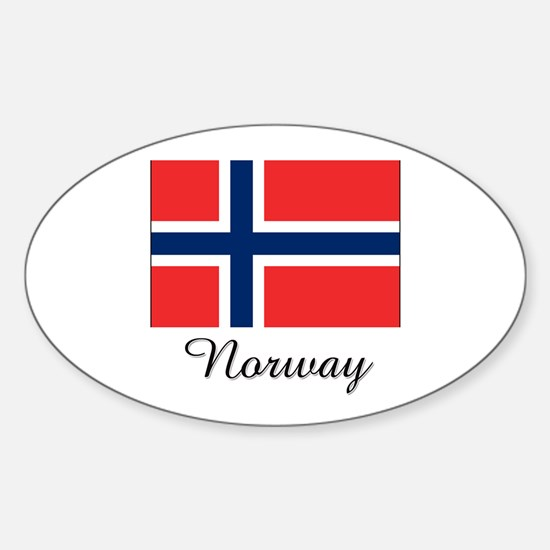 Norway Flag Oval Decal