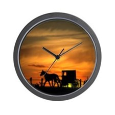 Amish Buggy Wall Clock