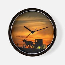 Amish Buggy Wall Clock