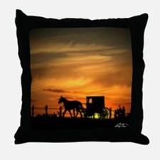 Amish Buggy Throw Pillow