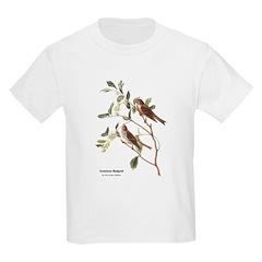 Audubon Common Redpoll Birds (Front) T-Shirt