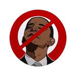 "No Obama 2008 3.5"" Button"