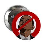 """No Obama 2008 2.25"""" Button (100 pack)"""