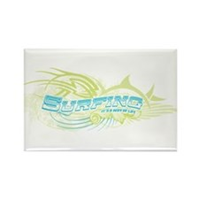 Surfing Way of Life Rectangle Magnet