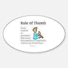 Full Rule - Hurt Oval Decal