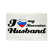 I love my Slovenian Husband Rectangle Magnet