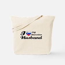 I love my Slovenian Husband Tote Bag