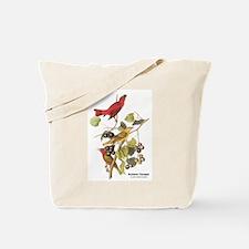 Audubon Summer Tanager Birds Tote Bag