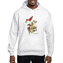 Audubon Summer Tanager Birds Hoodie
