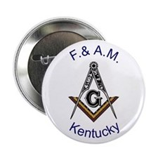 "Kentucky Square and Compass 2.25"" Button"