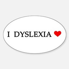 Dyslexia Oval Decal