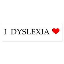 Dyslexia Bumper Bumper Sticker