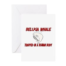 Beluga Whale trapped in a human body Greeting Card