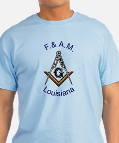 Louisiana Square and Compass T-Shirt