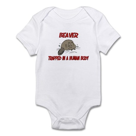 Beaver trapped in a human body Infant Bodysuit