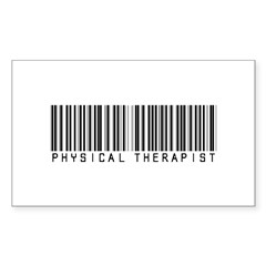 Physical Therapist Barcode Rectangle Decal