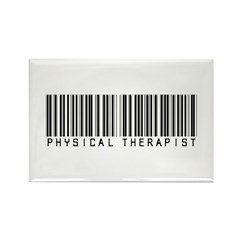 Physical Therapist Barcode Rectangle Magnet (10 pa