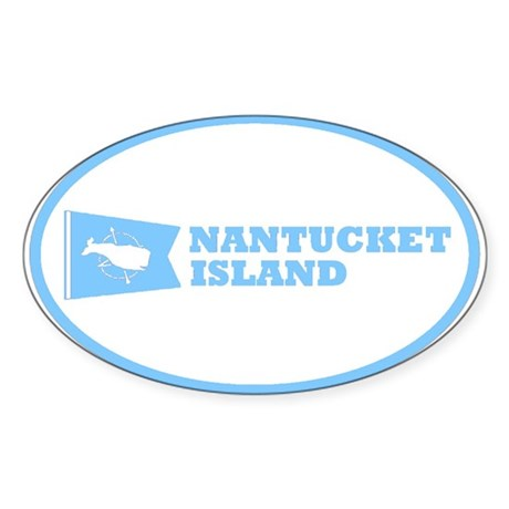 Nantucket Island Oval Sticker