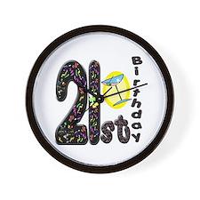 21st Birthday Wall Clock